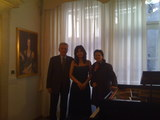 with President of Mozart Association