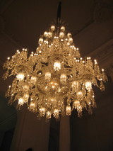 chandelier at Baccarat Museum