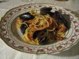 spaghetti di frutti di mare by my friend in Faenza